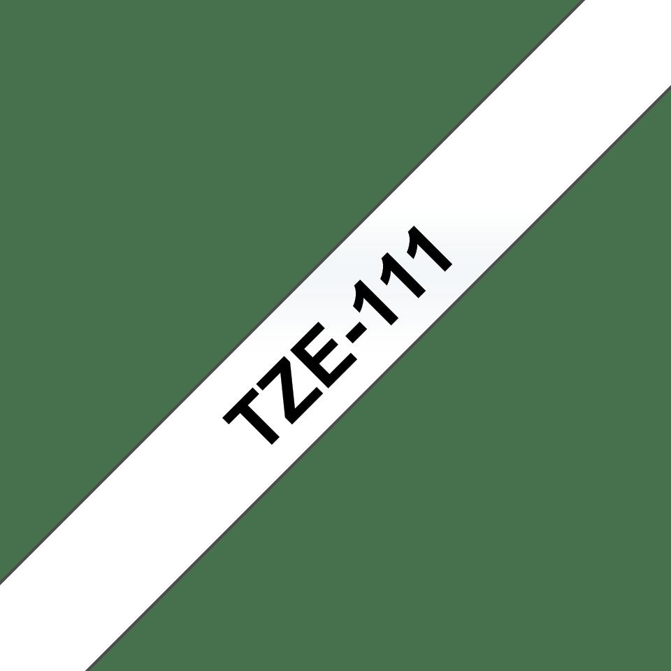 Brother TZE-111 Schriftbandkassette 6mm schwarz auf durchsichtig NEU