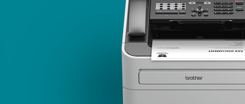 Brother Laser-Faxgerät mit Ausdruck im Ausgabefach