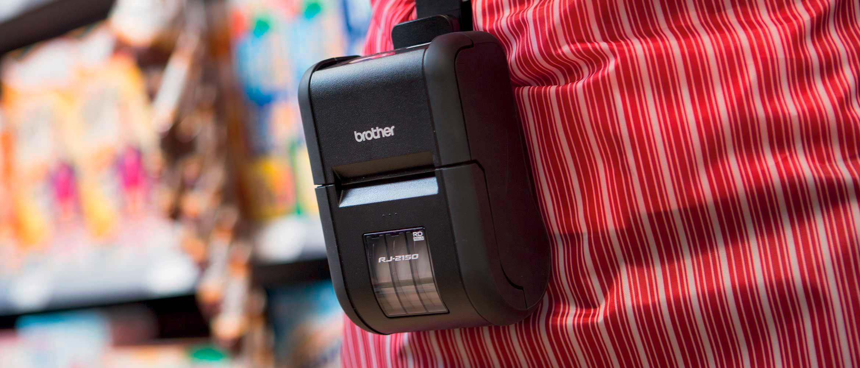 Mobiler Drucker an Gürtel