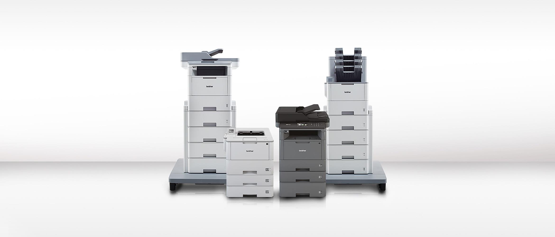 Brother Laserdrucker nebeneinander stehend