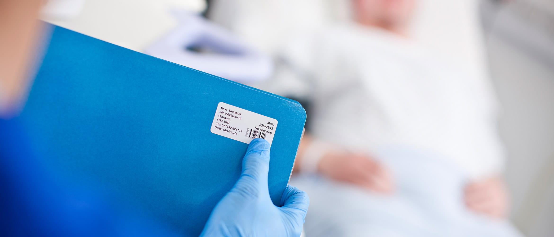 Patientenakte beschriften