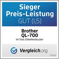 Brother QL-700 Vergleich.org Sieger Preis-Leistung