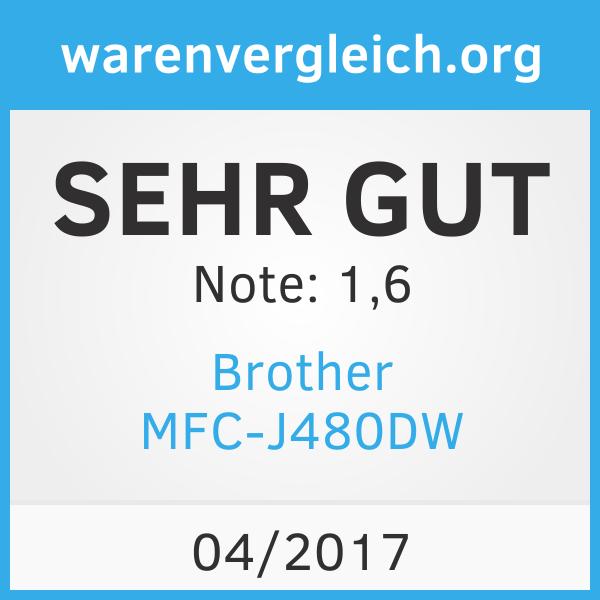 Brother MFC-J480DW warenvergleich.org SEHR GUT
