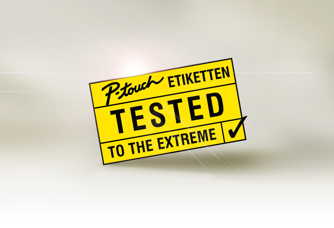 Logo P-touch Etiketten – Tested to the Extreme