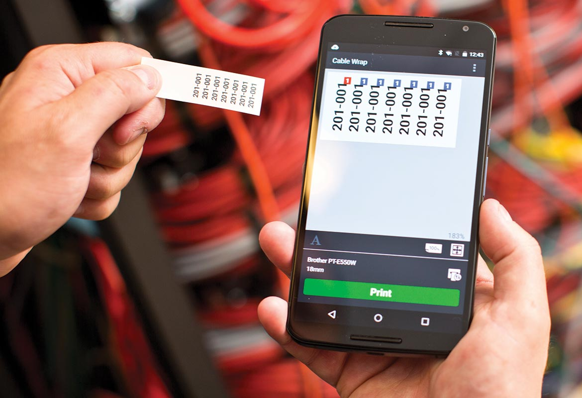 Mobile Cable Lable Tool App