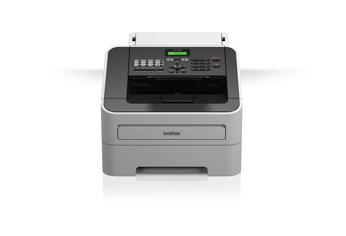 Brother fax machine on white background