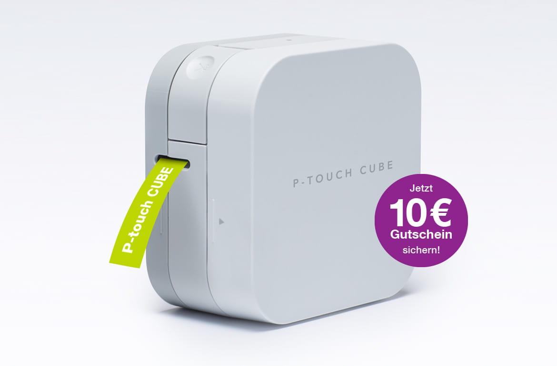 P-touch CUBE mit Ausdruck