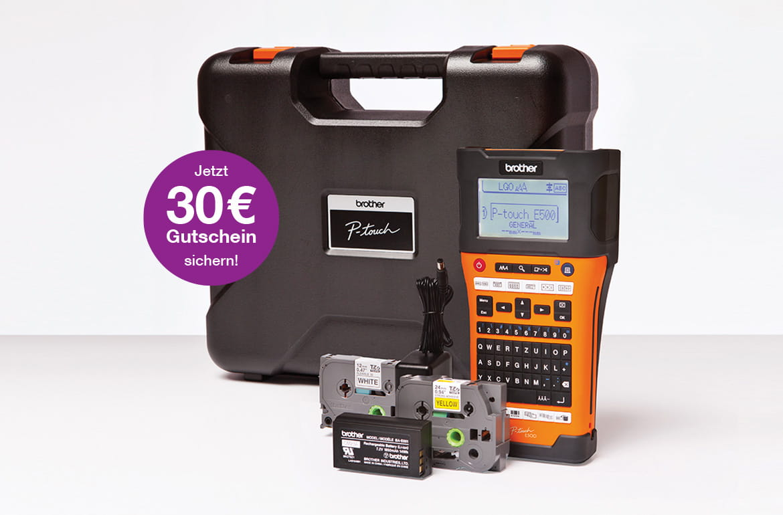 P-toiuch E550WVP mit Koffer und Schriftbandkassetten