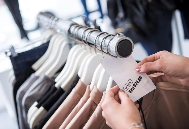 Preisschild im Einzelhandel