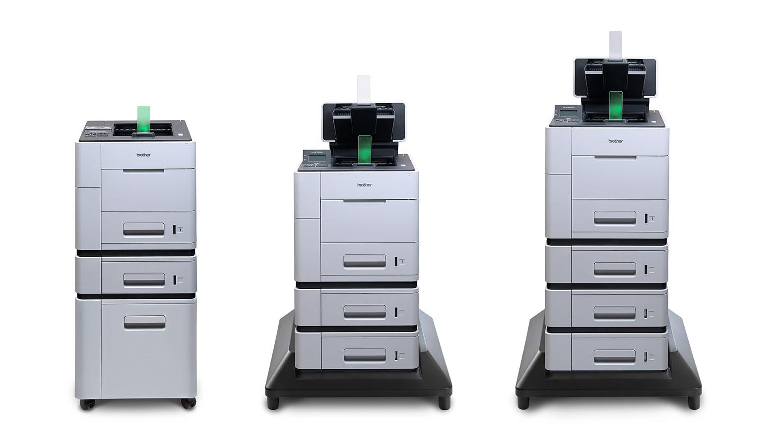 Die drei Brother Tinten-Hochleistungsdrucker der HL-S7000er Serie