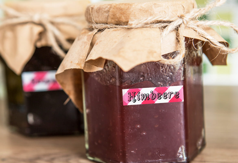 Marmelade mit Himbeere