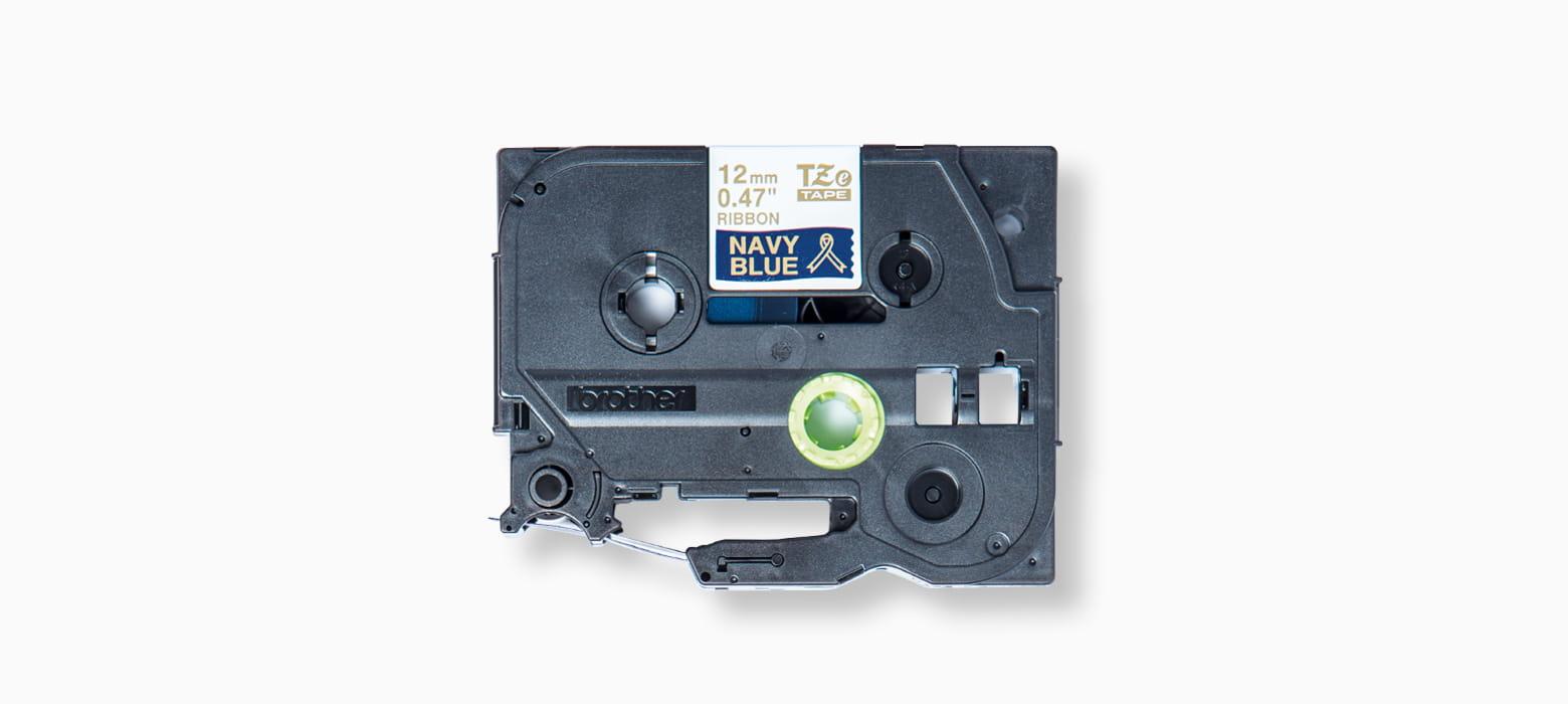 Schriftbandkassette mit blauem Textilband