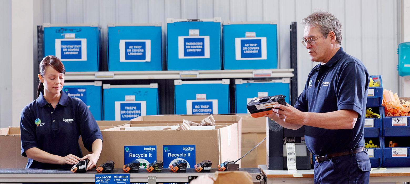 Brother Recycling von Original Druckerpatronen, Toner und Altgeräten