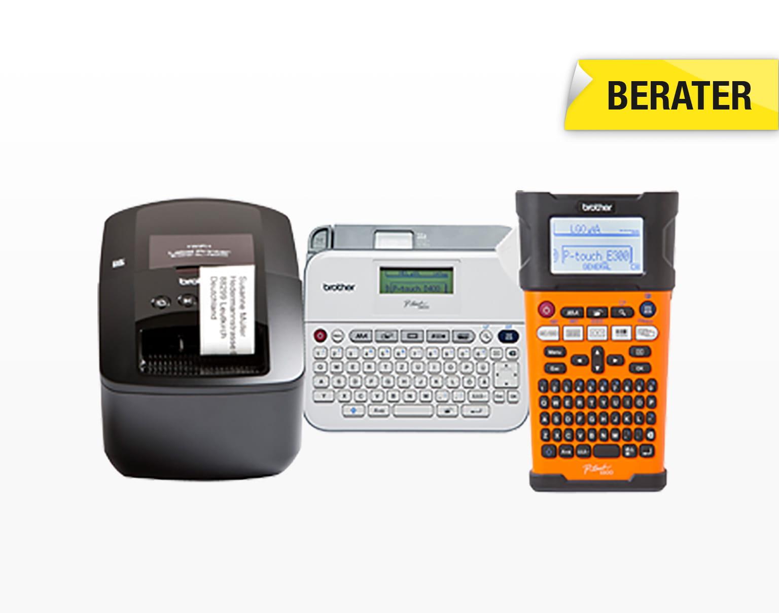 Verschiedene Beschriftungsgeräte