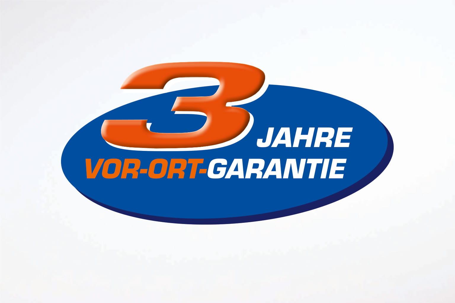 3 Jahre Vor-Ort-Garantie Logo