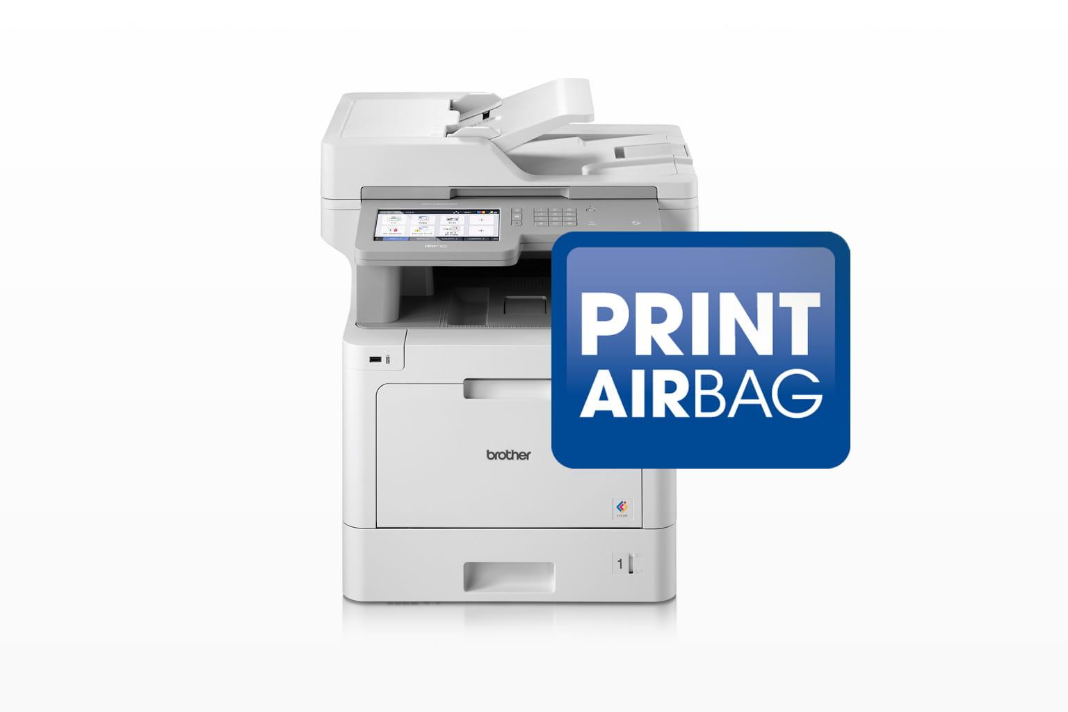 Brother Farblaser-Drucker und PRINT AirBag Logo