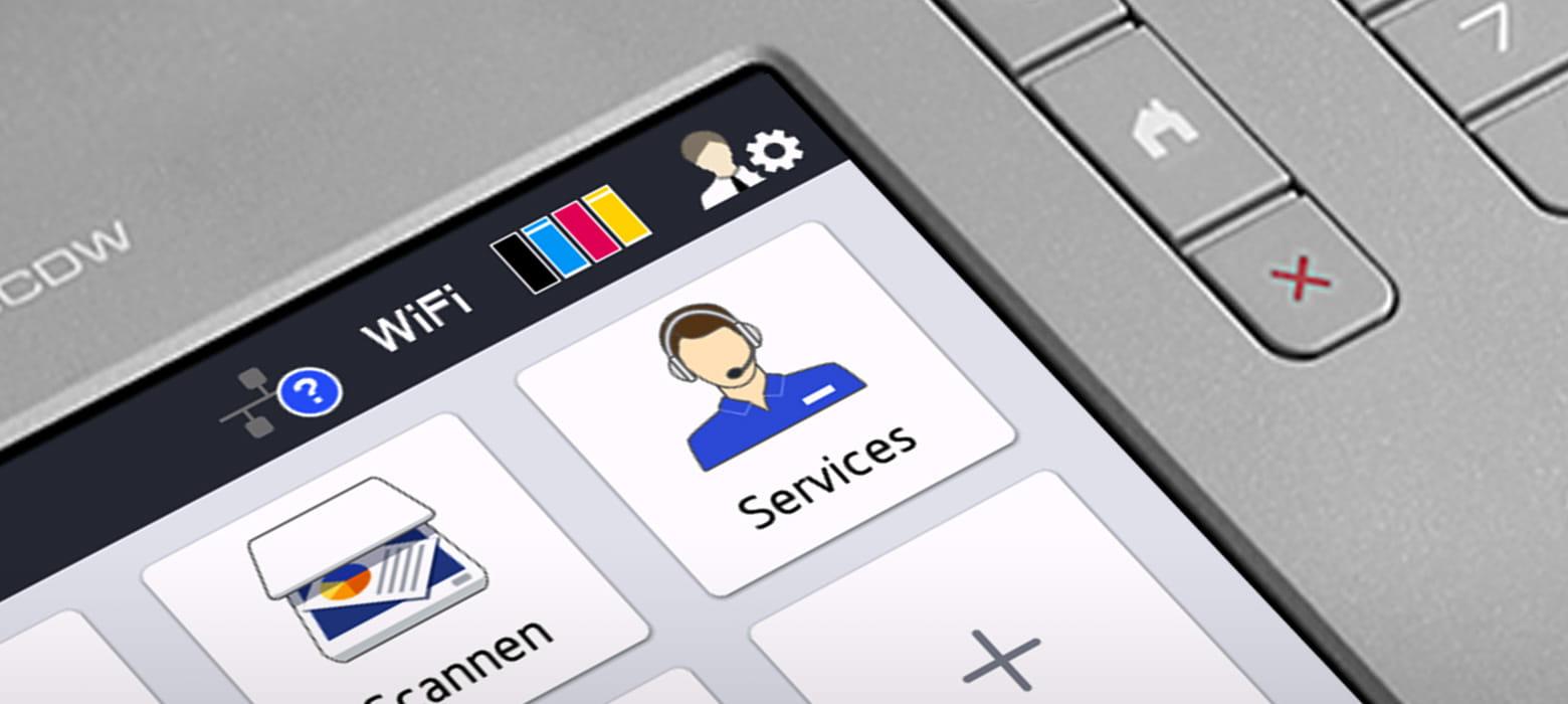 Brother Farblaserdrucker mit großem Touch-Display, Service-Bildschirm