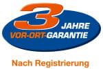 3 Jahre Vor-Ort-Garantie, nach Registrierung