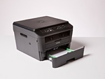 Brother DCP-L2520DW mit offener Papierkassette
