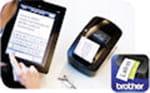Brother QL-720NW wird über Tablet benutzt