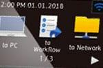 Brother ADS 1700w Workflow im  Display