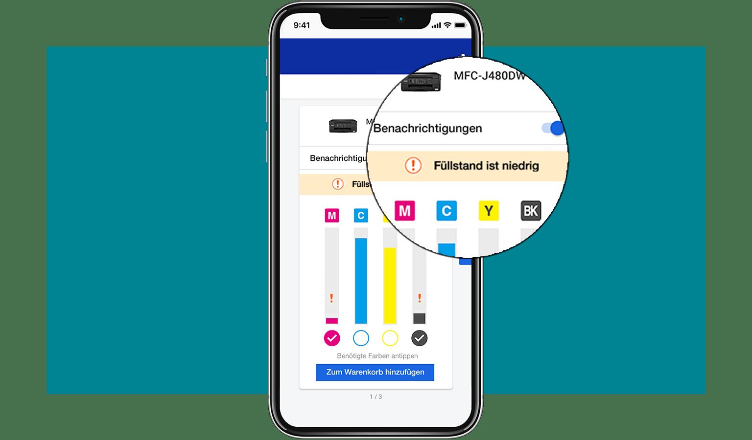 MySupplies-App Füllstände
