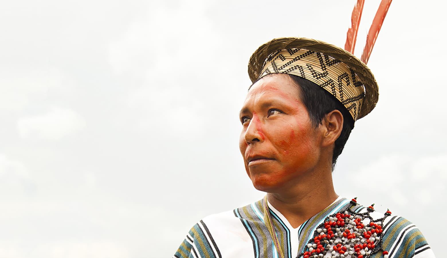 Einwohner eines peruanischen Dorfes
