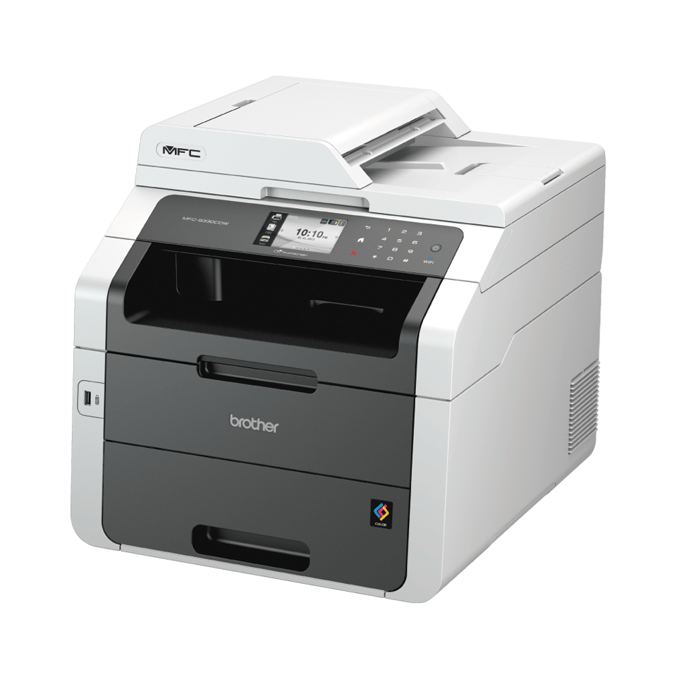 Brother Multifunktionsdrucker Laser MFC9332CDW Linksansicht
