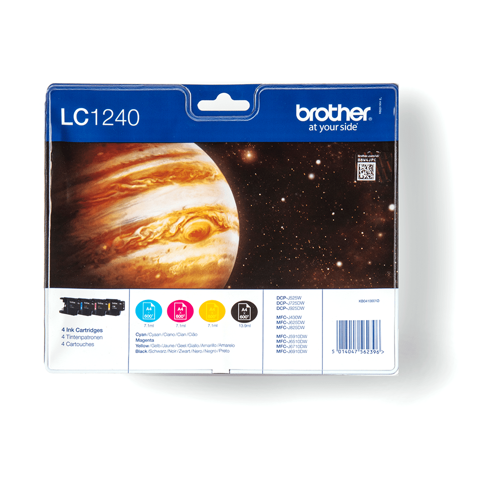 Original Brother LC-1240 Value Pack 0