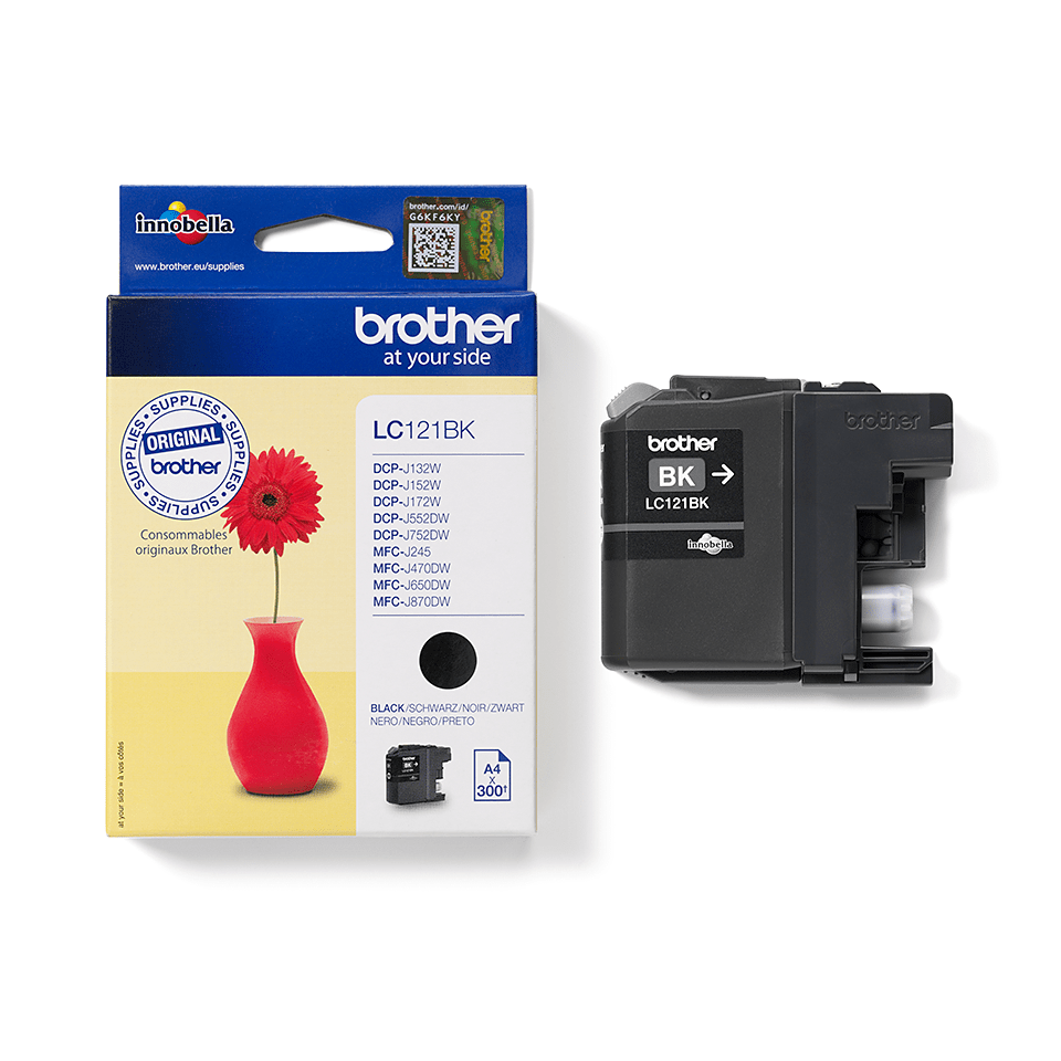 Brother LC-121BK Tintenpatrone – Schwarz 3