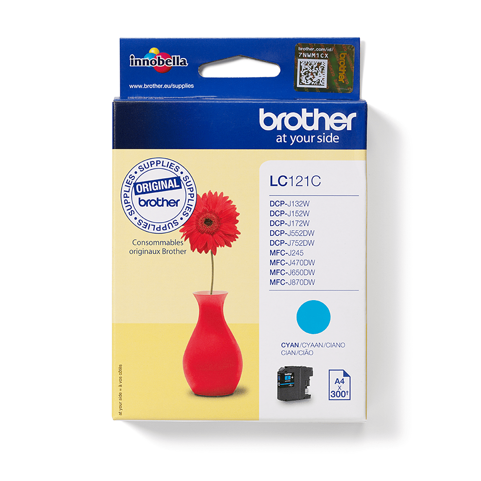 Brother LC-121C Tintenpatrone – Cyan 2