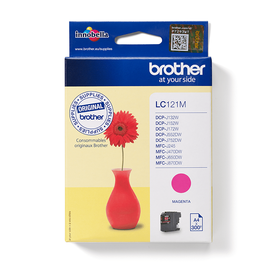 Brother LC-121M Tintenpatrone – Magenta 0