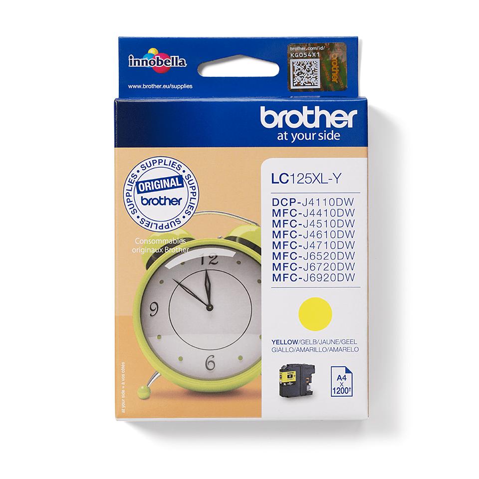 Brother LC-125XL-Y Tintenpatrone – Gelb 1