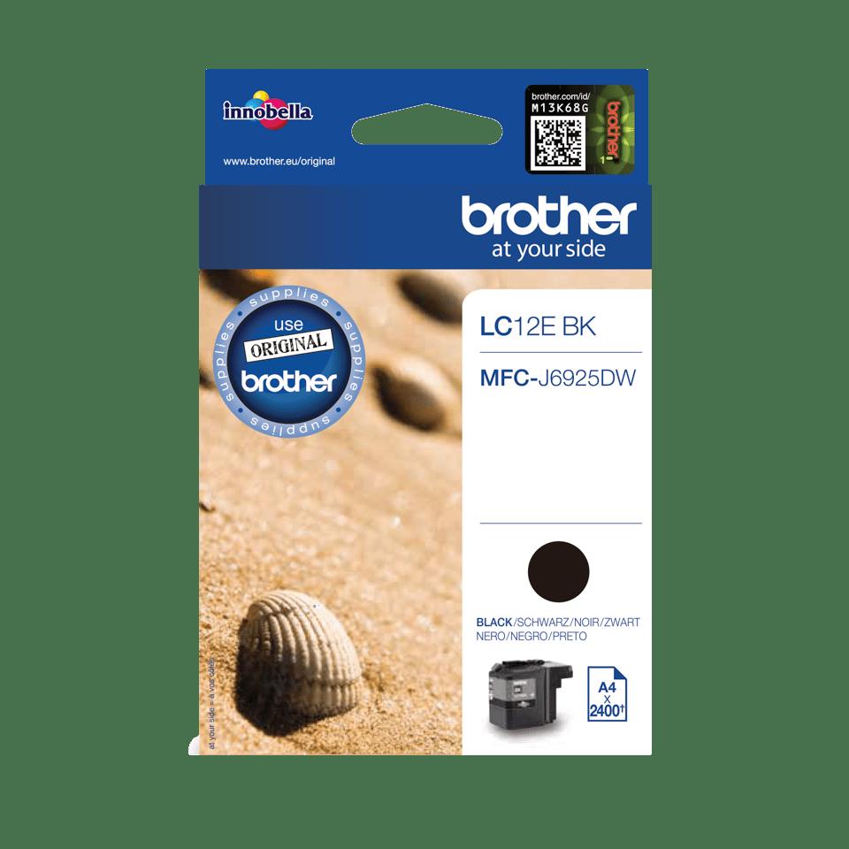 Brother LC-12EBK XL-Tintenpatrone – Schwarz 0