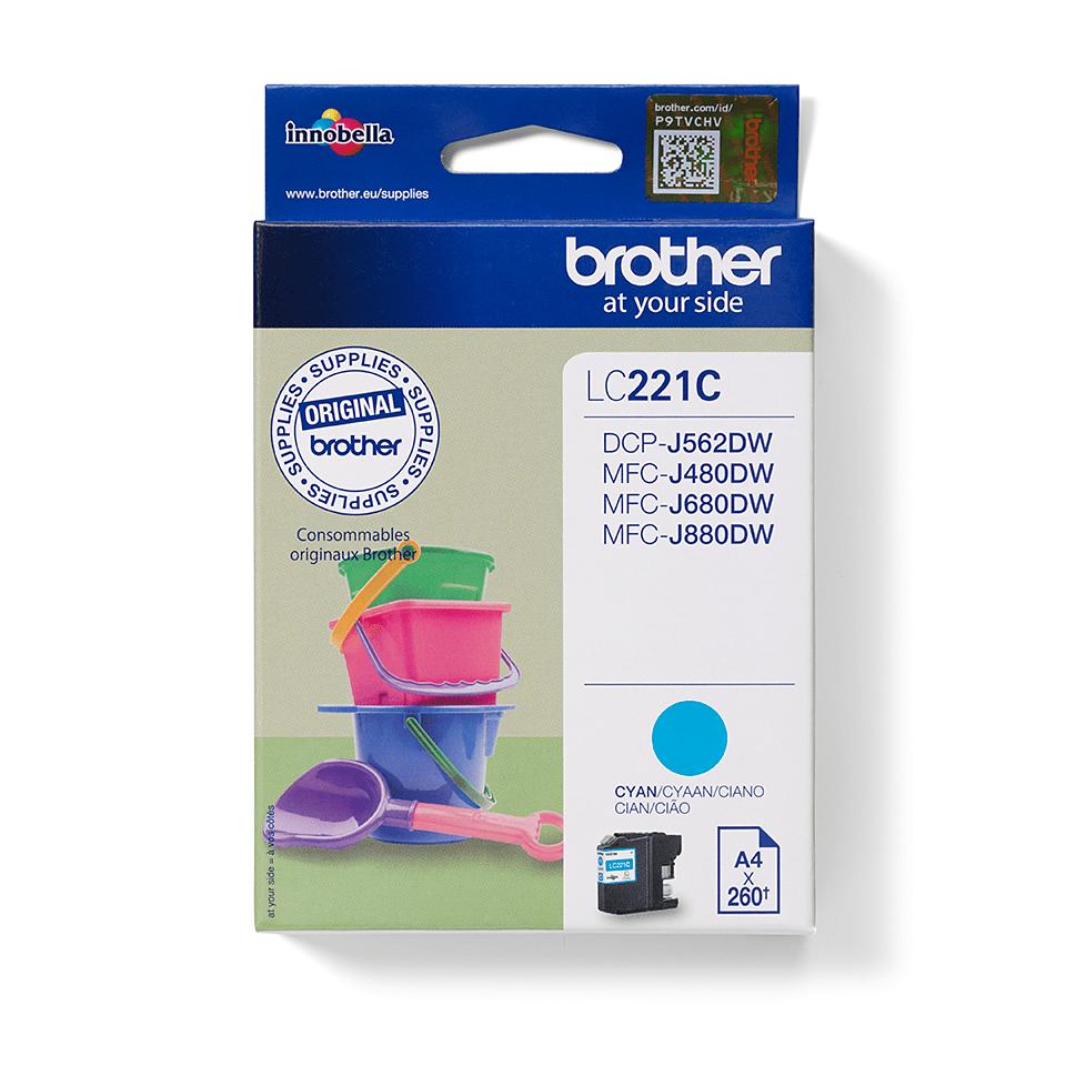 Brother LC-221C Tintenpatrone – Cyan 0