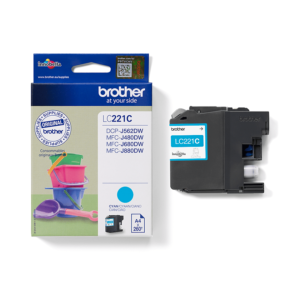 Brother LC-221C Tintenpatrone – Cyan 2