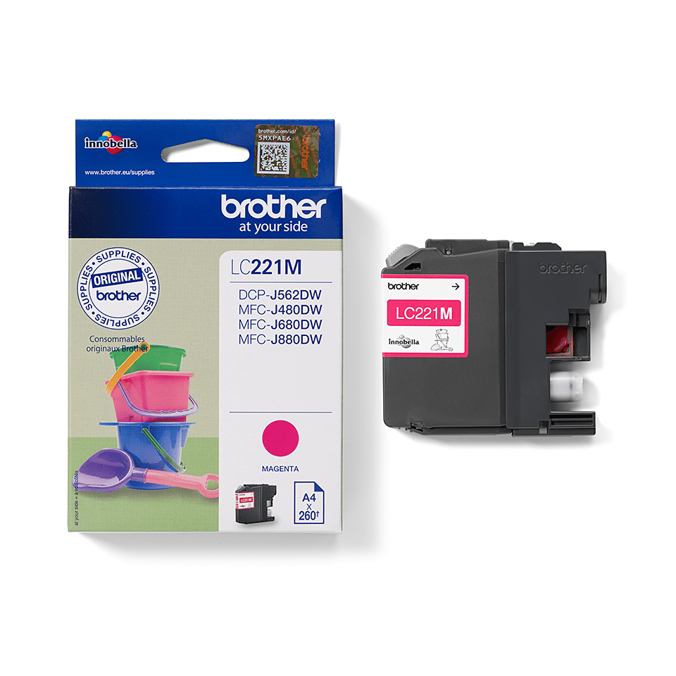 Brother LC-221M Tintenpatrone – Magenta 2