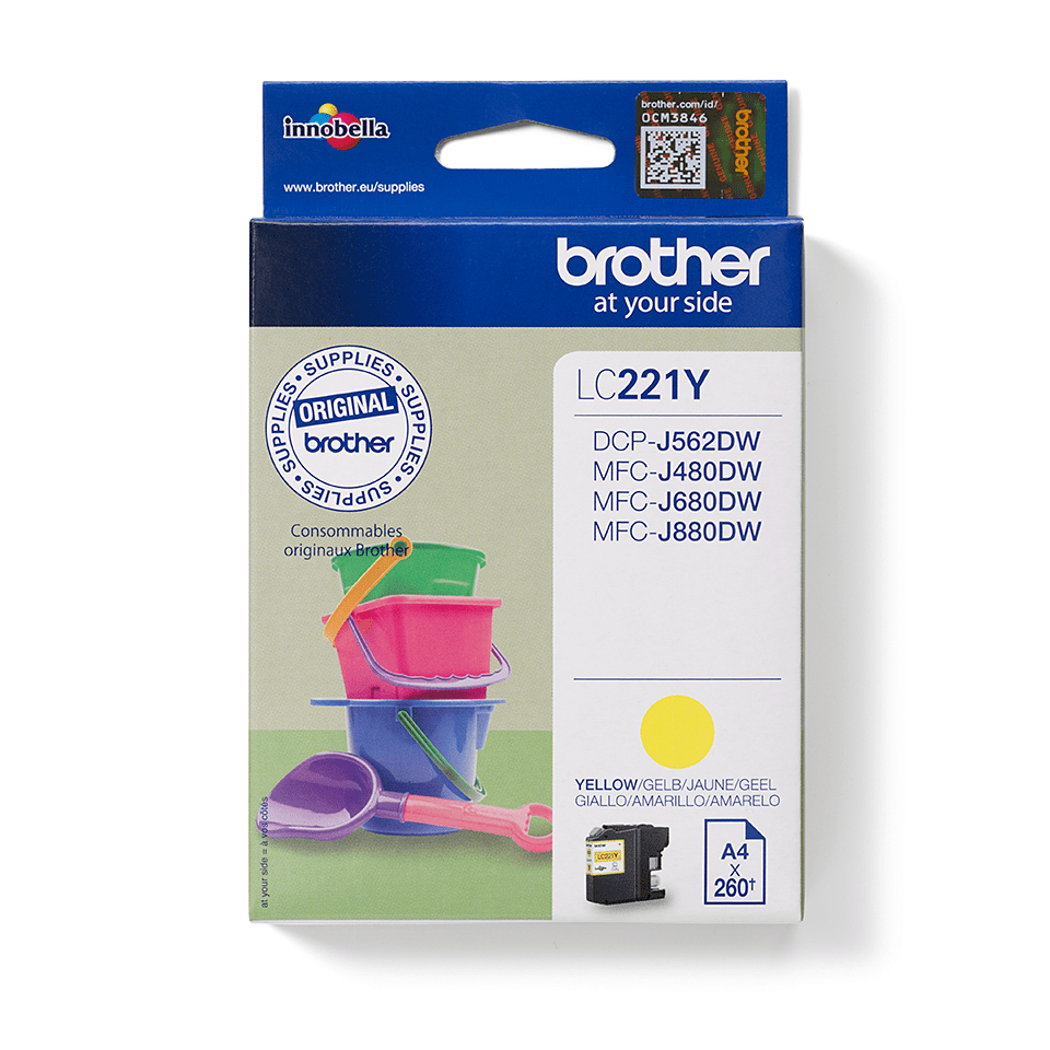 Brother LC-221Y Tintenpatrone – Gelb