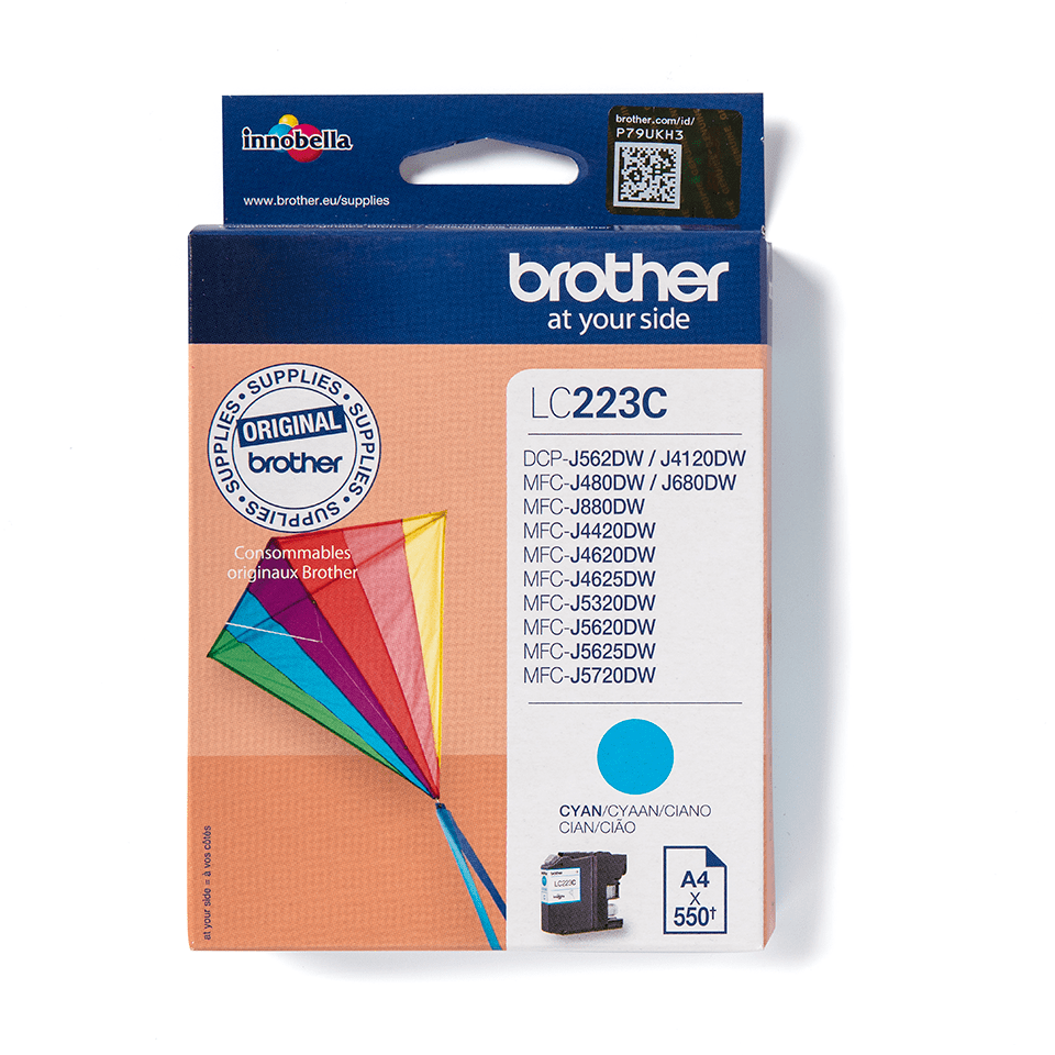 Brother LC-223C Tintenpatrone – Cyan 2
