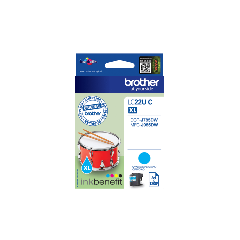Brother LC-22UC XL-Tintenpatrone – Cyan 2