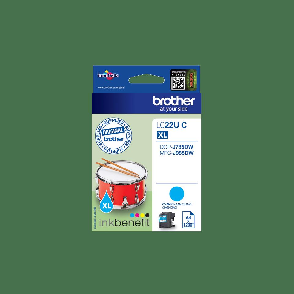 Brother LC-22UC XL-Tintenpatrone – Cyan 0