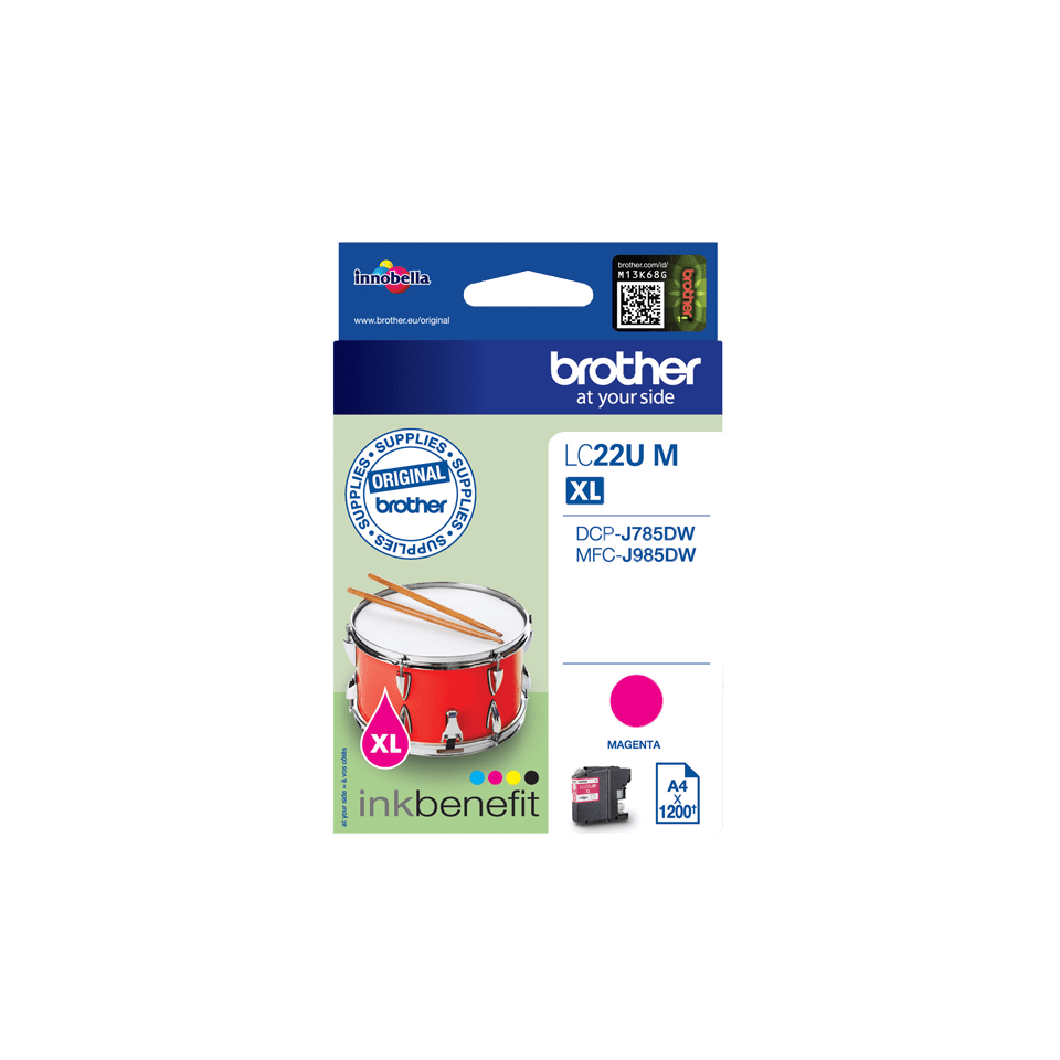 Brother LC-22UM XL-Tintenpatrone – Magenta 2