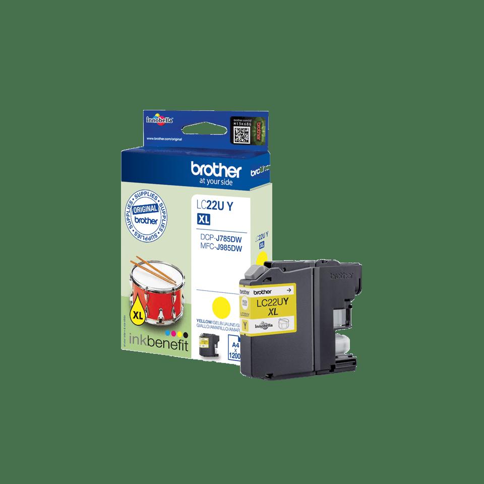 Brother LC-22UY XL-Tintenpatrone – Gelb 3