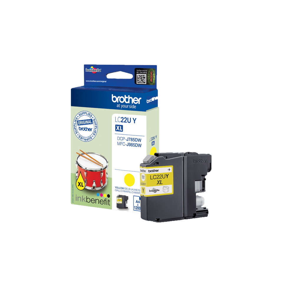 Brother LC-22UY XL-Tintenpatrone – Gelb