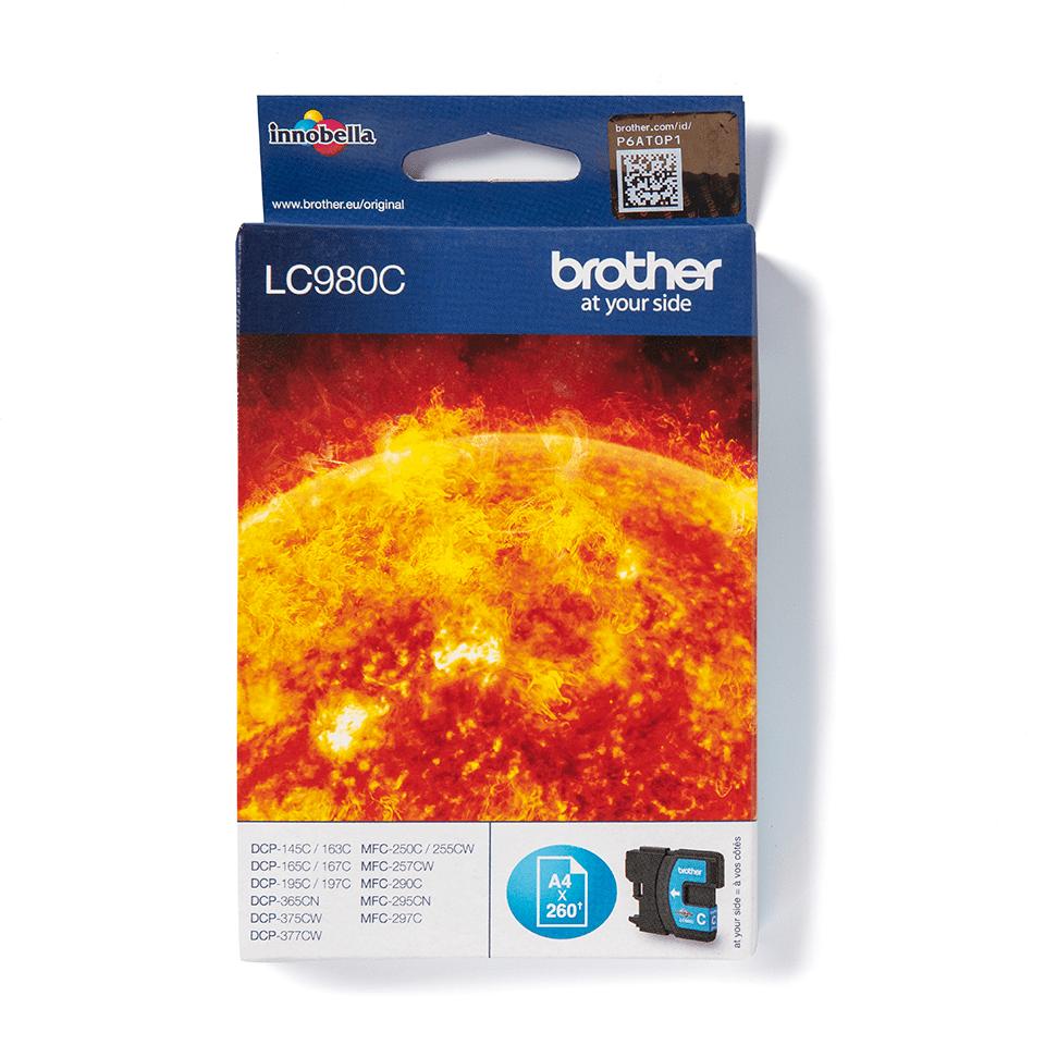 Brother LC-980C Tintenpatrone – Cyan 0