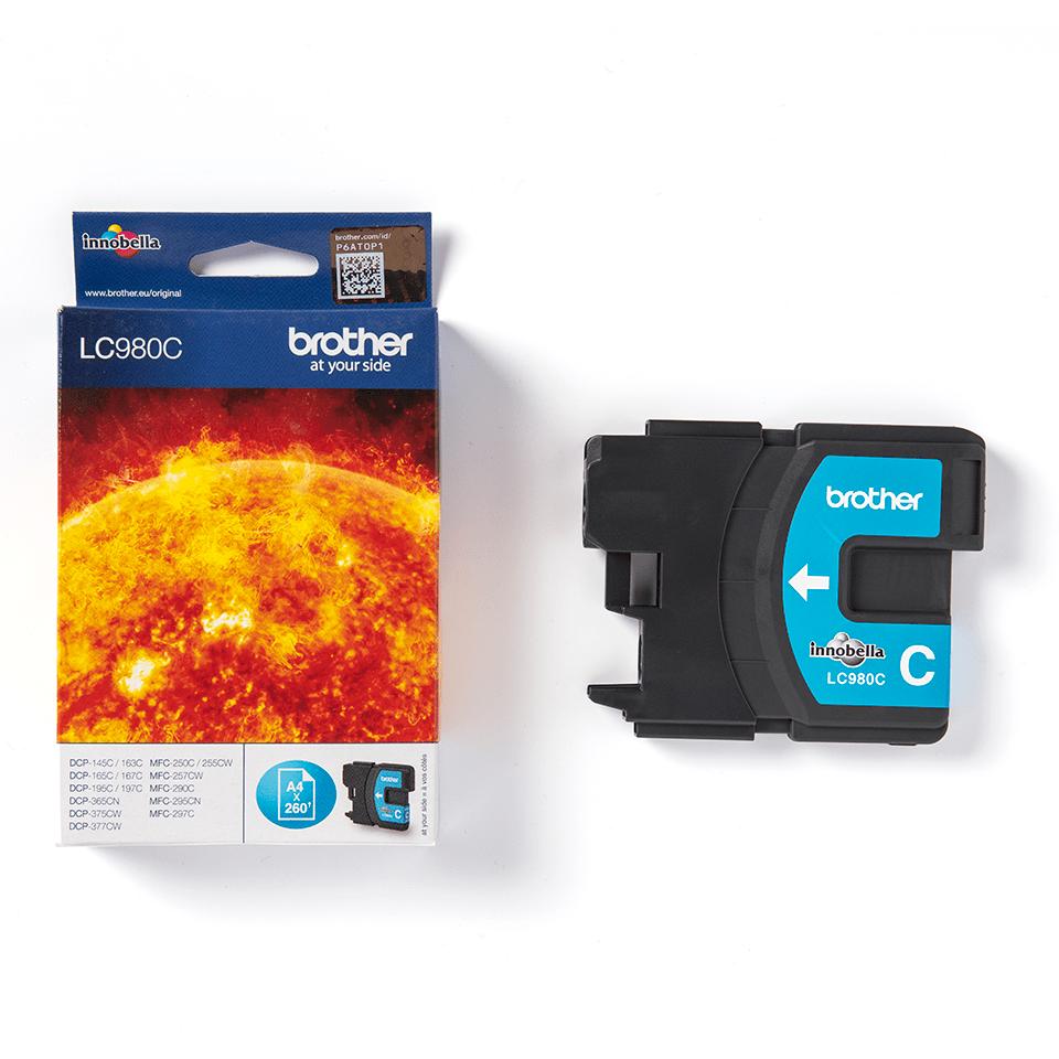 Brother LC-980C Tintenpatrone – Cyan 2
