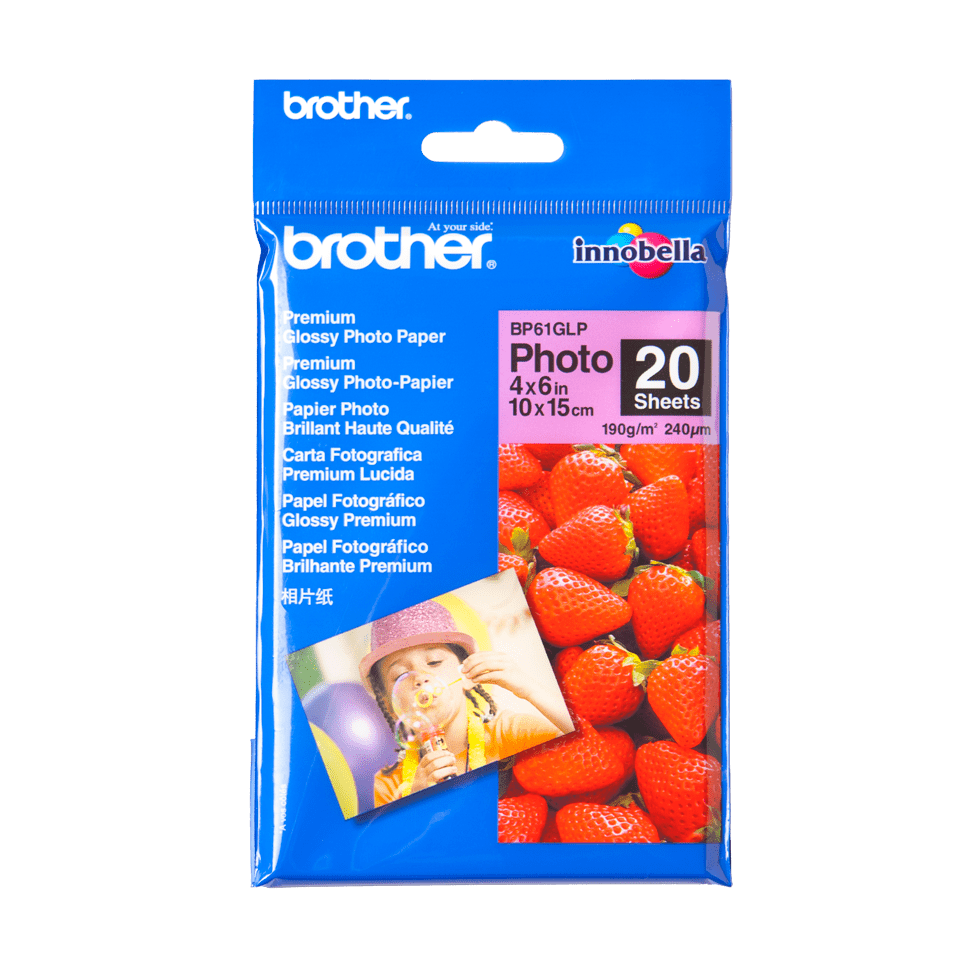 Brother BP61GLP Glanzpapier A6 0