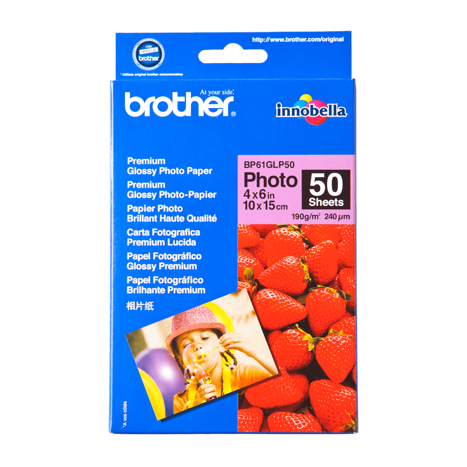 Brother BP61GLP50 Glanzpapier A6 0
