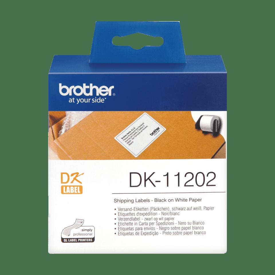 Brother DK-11202 Einzeletiketten – schwarz auf weiß 0