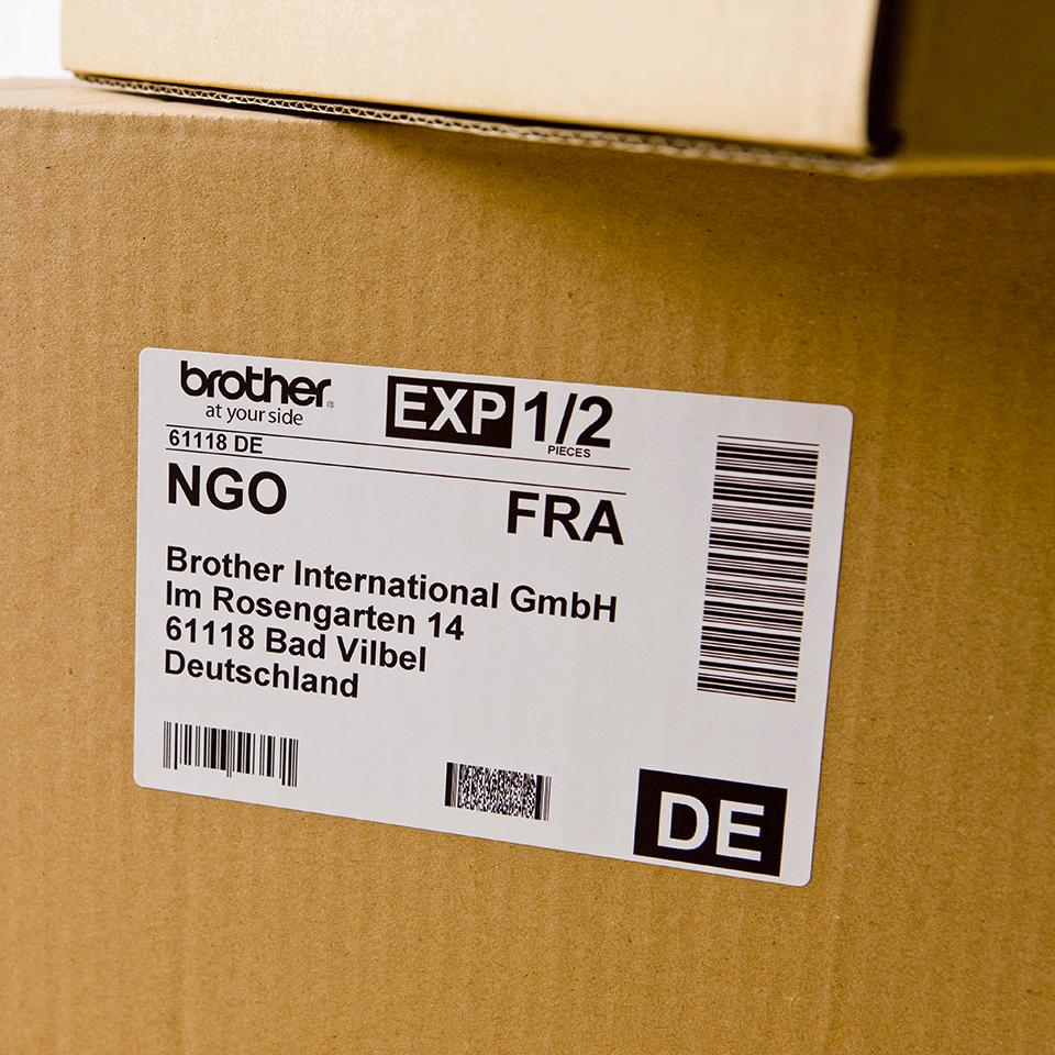 Brother DK-11202 Einzeletiketten – schwarz auf weiß 1